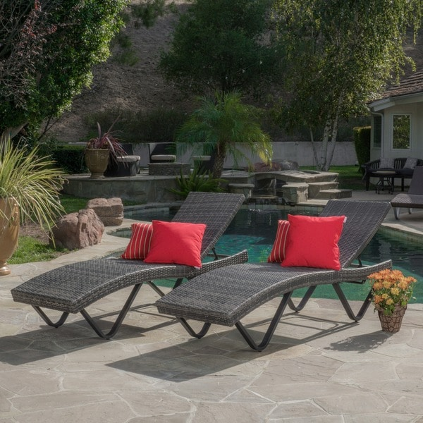 Christopher knight home kauai outdoor chaise lounge set of 2 for Ashley san marco chaise