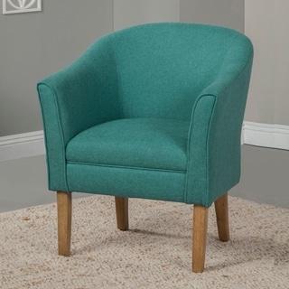 Homepop Ink Navy Swoop Arm Velvet Accent Chair 16914084