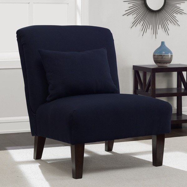 Anna Navy Accent Chair 16910088 Overstock Com Shopping