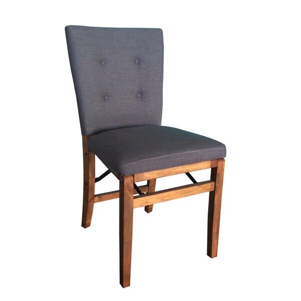 Homepop Solid Wood Grey Folding Chair 16910907