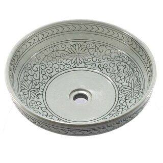 Fontaine Colored Porcelain Bathroom Vessel Sink 10762738