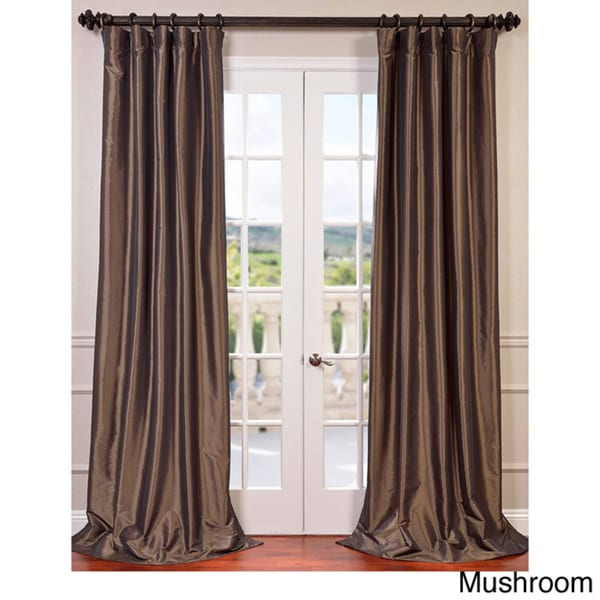 faux silk taffeta 120 inch blackout curtain panel overstock shopping great deals on eff curtains. Black Bedroom Furniture Sets. Home Design Ideas