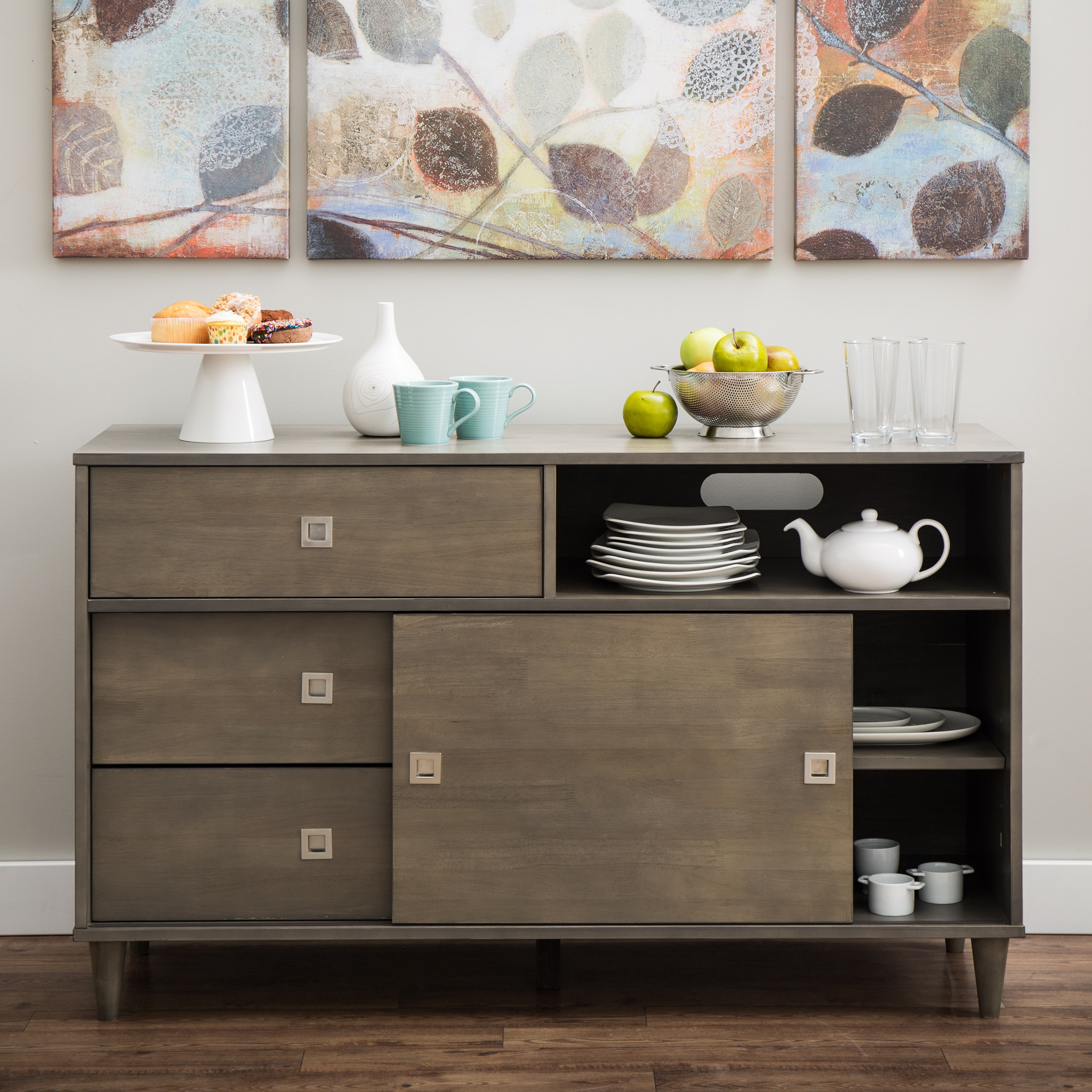 Marley Light Charcoal Transitional Buffet Overstock