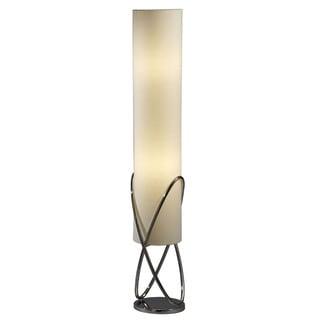 Nova Lighting Torque Brown Wood Accent Floor Lamp