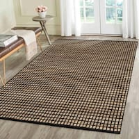 LR Home Flat Weave Natural Fiber Black Rectangle - 9' x 12'