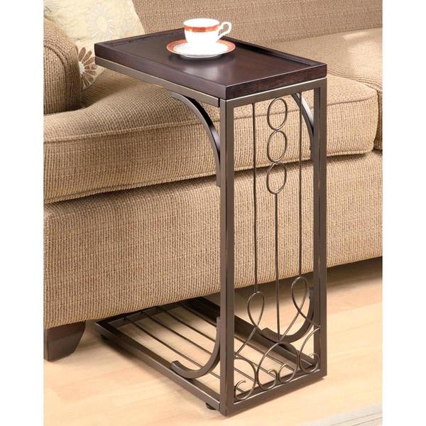 Elegant Scroll Design Snack Table 16930131 Overstock
