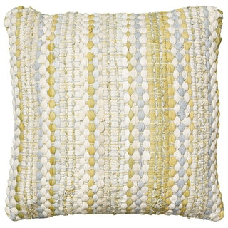 Chauncey Geometric Feather Filled Yellow Throw Pillow
