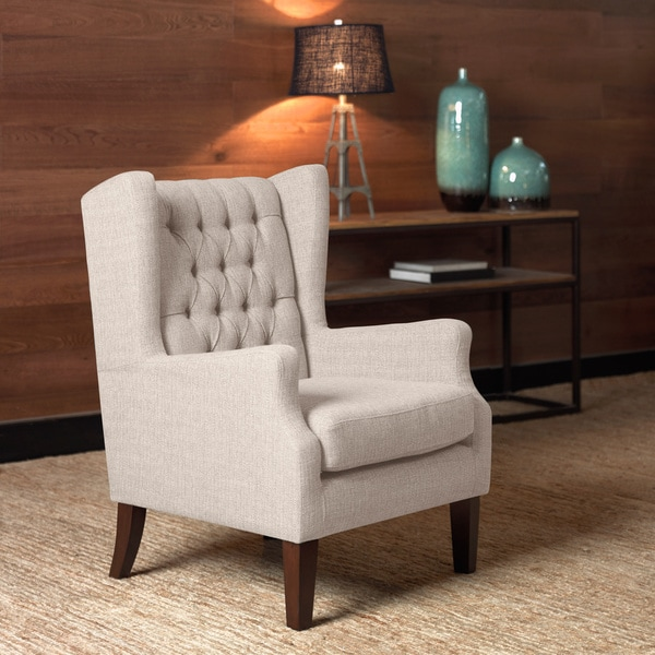 Maxwell Natural Wing Chair 16930940 Overstock Com