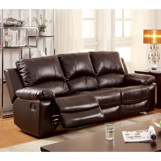 Furniture Of America Cameltone Brown Bonded Leather