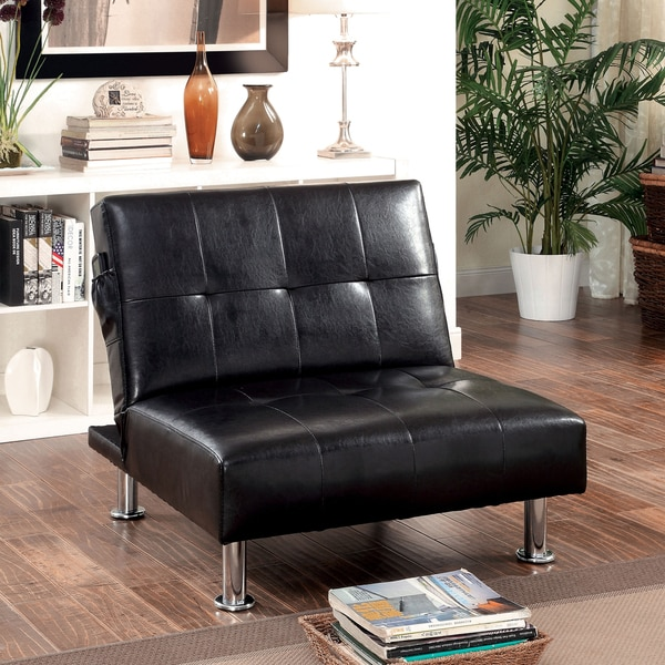 Furniture Of America Modern Tufted Convertible Chair With