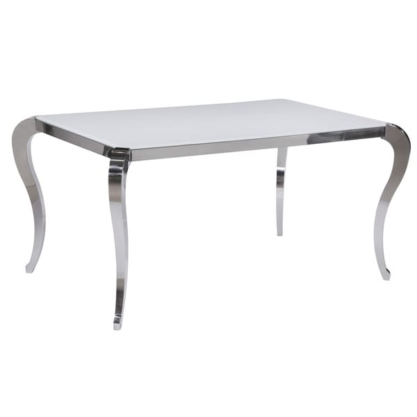 Somette Tabitha Super White Starphire Glass Dining Table