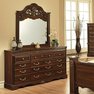 Toscana 7 Drawer Dresser And Optional Mirror 15737125 Overstock Shopping Great Deals On