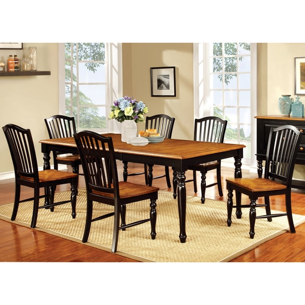 Dining Tables Country Style: Furniture Of America Levole Two-tone Country Style 18-inch