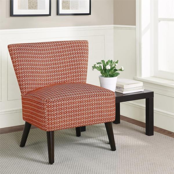 Dorel Living Kinsley Armless Red Accent Chair