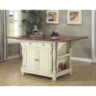 Gracewood Hollow Seton Two-tone Kitchen Island