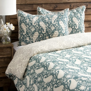 Paisley Sage Pattern Queen Size Duvet Cover With Shams India