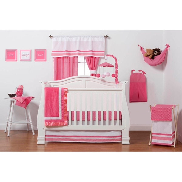 One Grace Place Simplicity Hot Pink Infant 3 Piece Crib