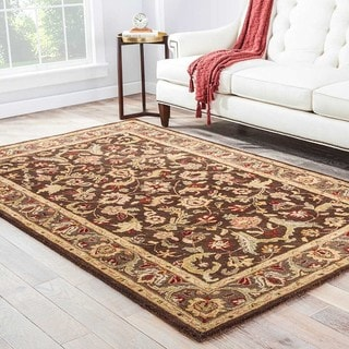 "Mayfair Handmade Floral Brown/ Multicolor Area Rug - 9'6"" X 13'6"""