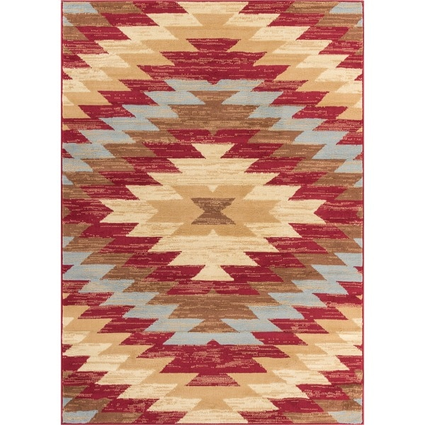 Well Woven Malibu Southwestern Kilim Red Multi