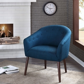 Grayson Navy Accent Chair 16374461 Overstock Com