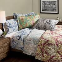 Crystal Palace 100-percent Cotton Print 3-piece Duvet Cover Set