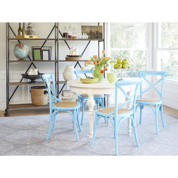 Blue Kitchen Table Set: Hillgate 5 Piece Dining Set In Antique White & Blue Chairs