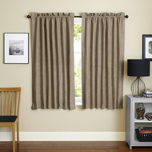 Blazing Needles 63 Inch Microsuede Blackout Curtain Panel