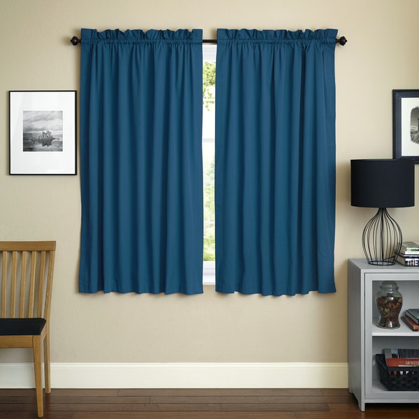 Blazing Needles 63 Inch By 52 Inch Twill Curtain Panels