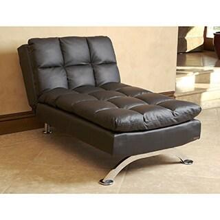 Furniture Of America Stabler Comfortable Black Futon Sofa