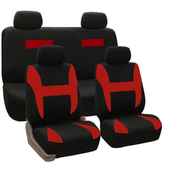 Full Set Pique Fabric Car Seat Covers