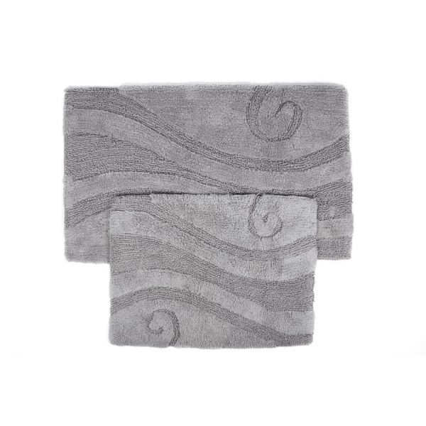 Swirl Collection 2 Piece Cotton Bath Rug Set