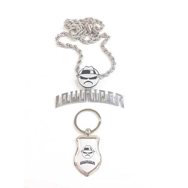 Stainless Steel Lowrider Collection Latino Plaque Necklace