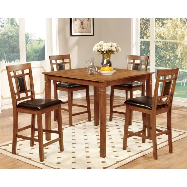 Furniture Of America Bennett 5 Piece Light Oak Counter