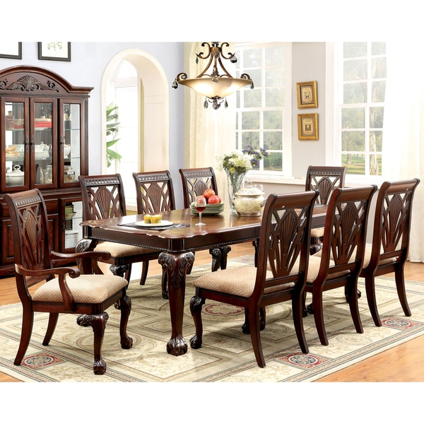 Furniture Of America Ranfort Formal 9-Piece Cherry Dining