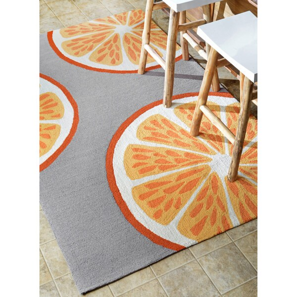 Nuloom Handmade Indoor Outdoor Modern Orange Kitchen Rug