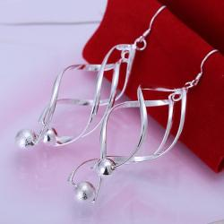 Vienna Jewelry Sterling Silver Interlocking Spiral Earring with Pearls - Thumbnail 0