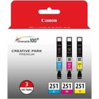 Canon CLI-251 Original Ink Cartridge Multi-pack - Cyan, Magenta, Yell