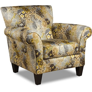Anna Yellow Ikat Accent Chair 15845036 Overstock