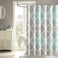 The Curated Nomad Lyon Geometric Shower Curtain