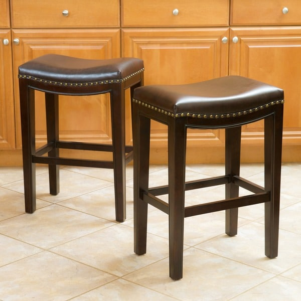 Counter Stools Overstock: Christopher Knight Home Avondale Brown Bonded Leather