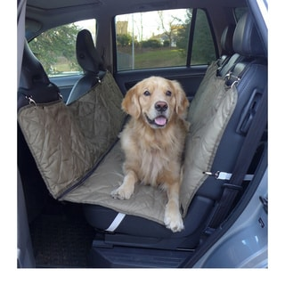 Quilted Suede Hammock Style Pet Car Seat Cover 16559424
