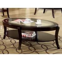 Furniture of America Carline Modern Espresso Coffee Table