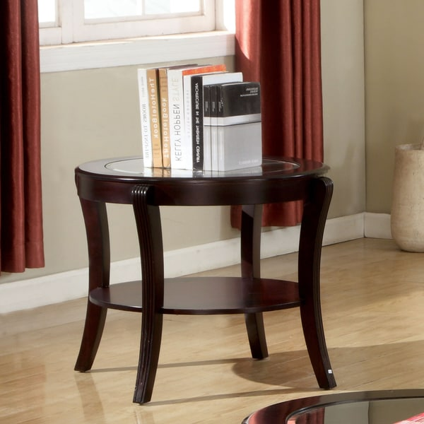 Overstock End Tables: Furniture Of America Carline Modern Espresso End Table