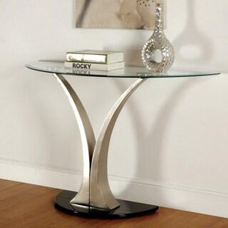 Furniture Of America Helena Modern Satin Plated Sofa Table