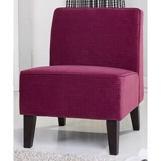 Anna Raspberry Accent Chair 15845037 Overstock