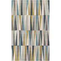 Hand-Tufted Rox anne Geometric Wool Area Rug - 5' x 8'