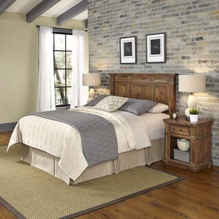 Americana Vintage Headboard and Two Night Stands by Home Styles