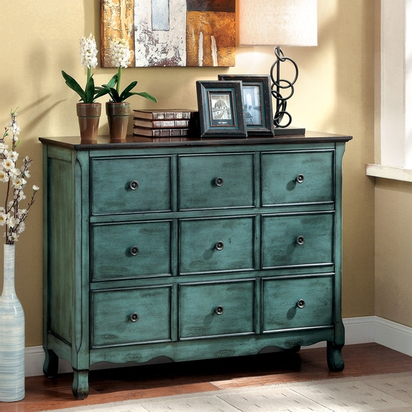 Furntiure: Dresser Vintage Antique Solid Wood Drawers Chest Bedroom