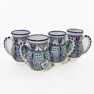 Le Souk Ceramique Set Of 4 Malika Design Large Mugs Tunisia