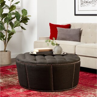 Abbyson Living Clarence Tufted Round Ottoman 15478521